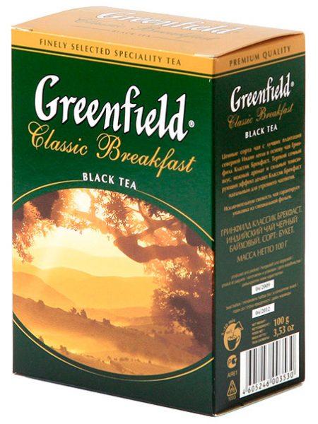 чай Гринфилд, Classik Breakfast, 200г.