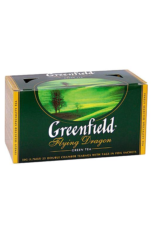 Чай Гринфилд, зеленый Flying Dragon, 25/2г. с доставкой по Словении