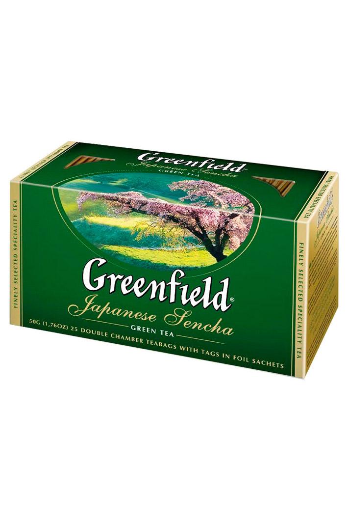 Чай Гринфилд, зеленый, Japanese Sencha 25/2г. с доставкой по Словении