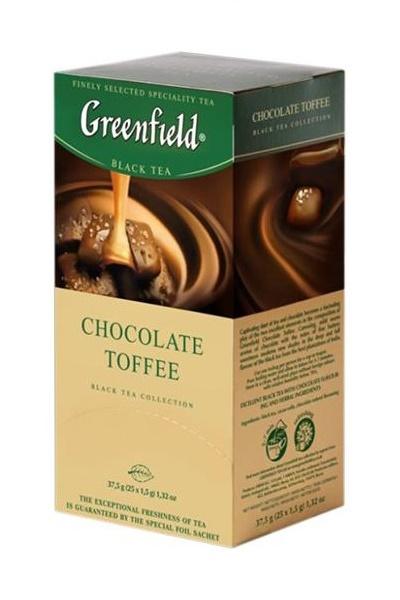 Čaj Chocolate TOFFEE, TM Greenfield, 25/2g. z dostavo v Sloveniji