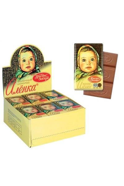 Молочный шоколад Аленка, 15г. Россия с доставкой по Словении