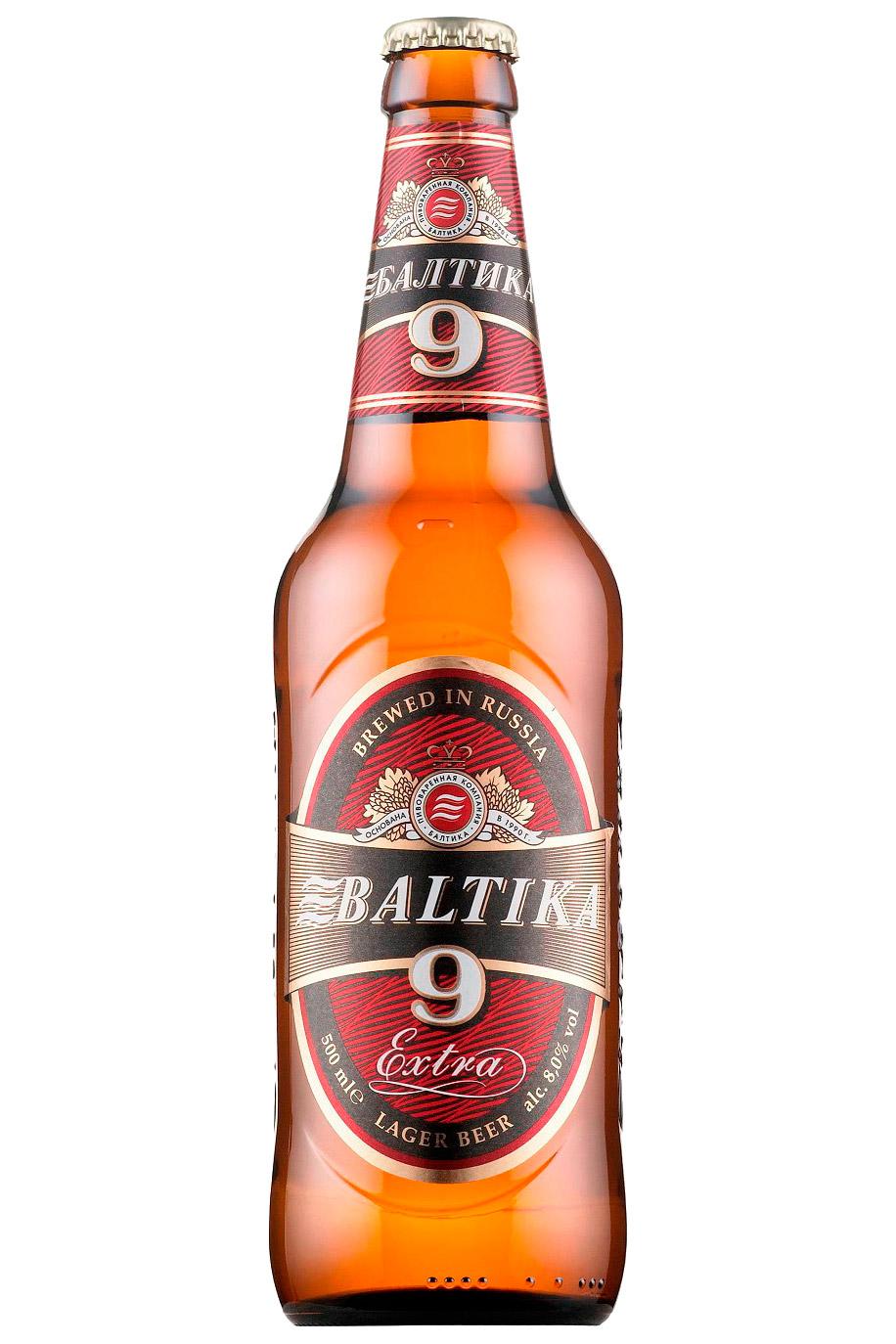 Пиво Балтика №9, крепкое с доставкой по Словении