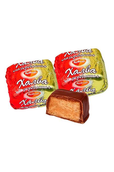 Halva z arašidi v čokoladni glazuri Rot Front, cena je za 100g. z dostavo v Sloveniji