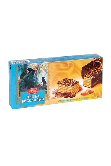 Вафельный торт Мишка косолапый, 250г. Россия с доставкой по Словении