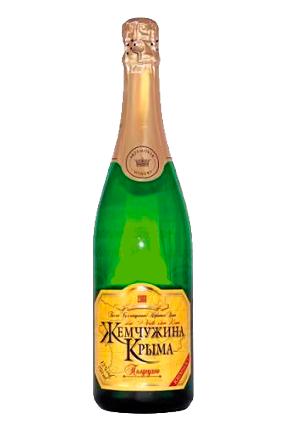 Belo polsuho peneče vino Biser Krima, 0,75l. Ukrajina z dostavo v Sloveniji