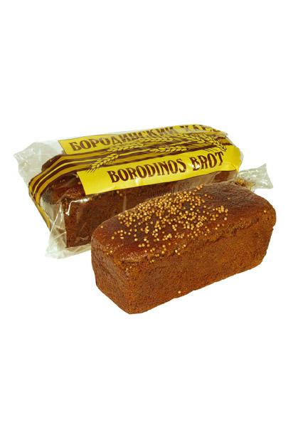 Хлеб ржаной Бородинский, 650г с доставкой по Словении