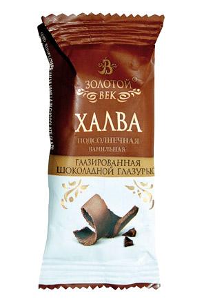 Подсолнечная халва в шоколаде Золотой век с доставкой по Словении