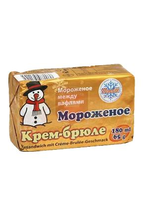 Мороженое Крем-брюле, 180мл. Чехия с доставкой по Словении