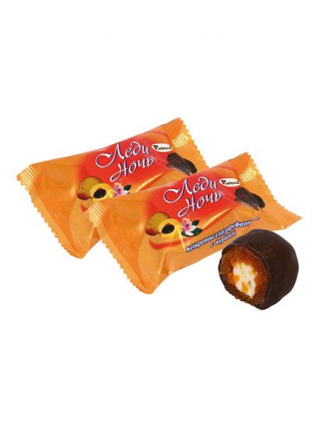 Конфеты Леди ночь, абрикос с суфле в шоколаде. Акконд