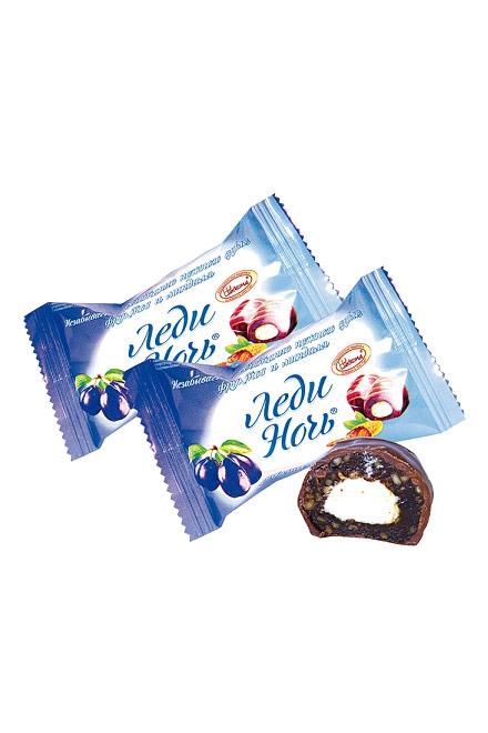 Čokobonboni Ledi noč sliva z mandlji v čokoladi, na vago, Rusija z dostavo v Sloveniji
