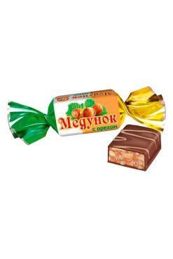 Мягкая карамель с фундуком в шоколаде Медунок, Славянка