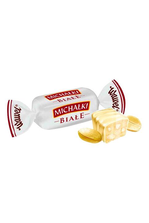 Bela čokolada z arašidi Michalki, na vago, Poljska z dostavo v Sloveniji