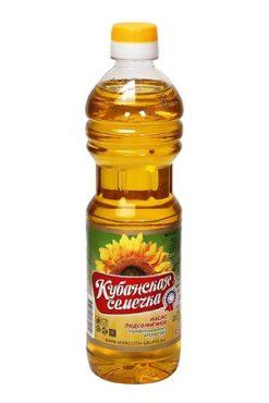 Подсолнечное масло Кубанская семечка, 0,5л
