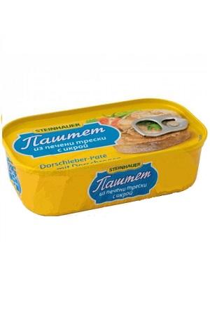 Pašteta iz jetre trske z kaviarom, 90g. Islandija z dostavo v Sloveniji