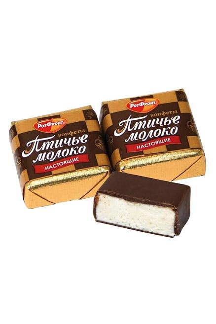 Bonboni  Ptičje mleko vanilija 1,2, Rot Front, na vago, Rusija z dostavo v Sloveniji