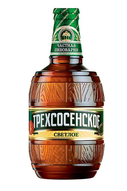 Пиво Трехсосенское светлое, 4,5% 0,5л. Россия с доставкой по Словении