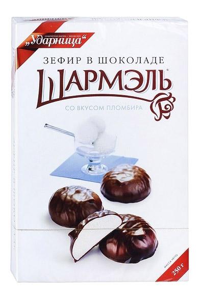 Zefir Šarmelj v čokoladi, 250g. Rusija, z okusom sladoleda, 250g. z dostavo v Sloveniji