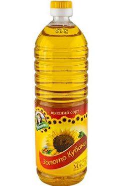 Подсолнечное масло Золото Кубани, 1л