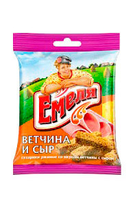 Krekerji šunka in sir, Emelja, 40g. Rusija z dostavo v Sloveniji
