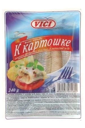 File slanika v rastlinskem olju K kartošečke VICI, 240g. z dostavo v Sloveniji