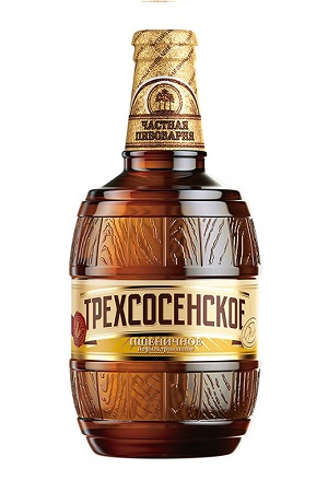 Pivo Trehsosenskoje pšenično nefiltrirano, 4,5%, 0,5l z dostavo v Sloveniji