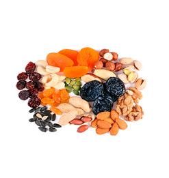 сухофрукты, ягоды, орехи