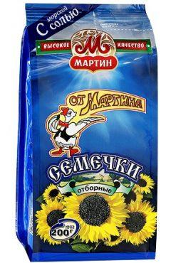 Жареные семечки отборные с солью От Мартина