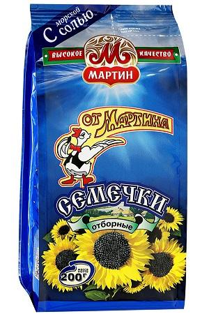 Жареные семечки отборные с солью От Мартина, 200г. с доставкой по Словении