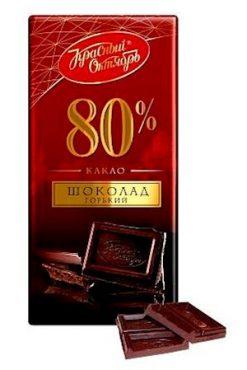 Шоколад Красный Октябрь, 80% какао