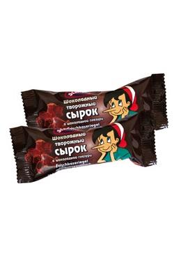 Шоколадный творожный сырок в шоколадной глазури