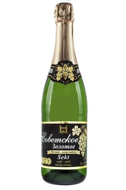 Шампанское Советское полусладкое, 0,75л, Украина с доставкой по Словении