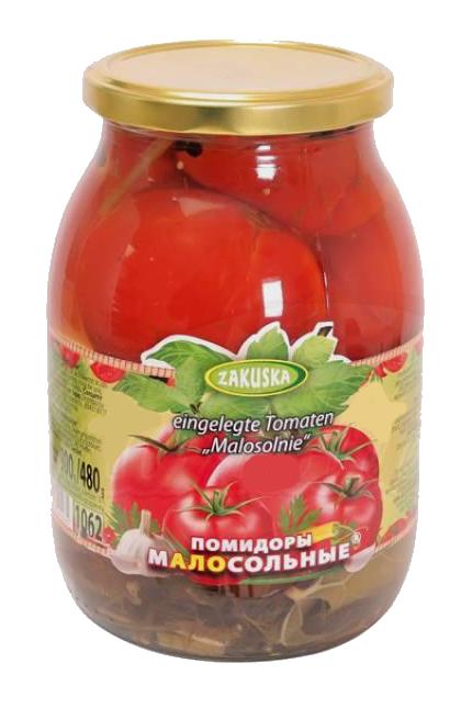 Малосольные помидоры без уксуса, 1062мл., Македония с доставкой по Словении