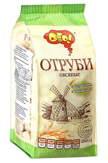 Ovseni otrobi TM OGO, 200g. Rusija z dostavo v Sloveniji