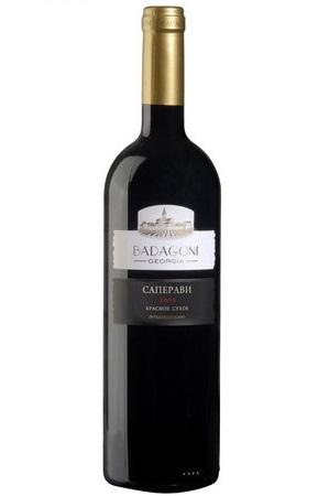 Вино Саперави, красное сухое грузинское, 0,75л. с доставкой по Словении