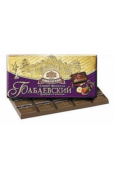 Темный шоколад Бабаевский с фундуком и изюмом