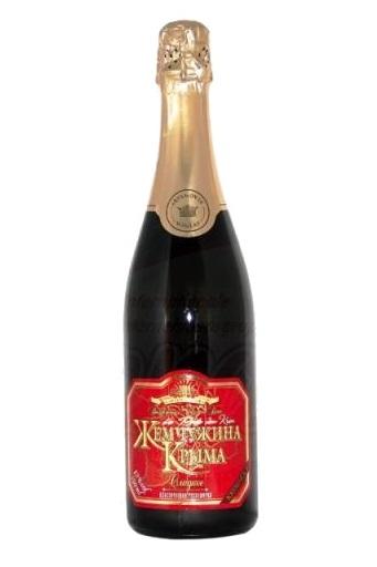 Шампанское Жемчужина Крыма, красное, сл., Украина с доставкой по Словении