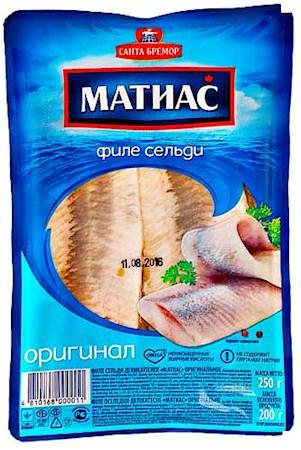 Филе сельди в масле Matias, 250г.