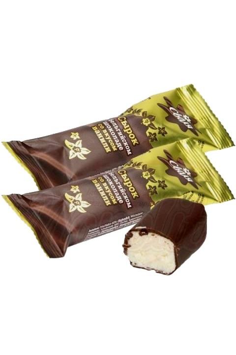 Творожный ванильный сырок в бельгийском шоколаде, Литва с доставкой по Словении