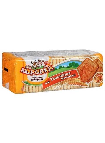Печенье сахарное, Коровка Топленое молоко, 375г., Рот Фронт Россия с доставкой по Словении