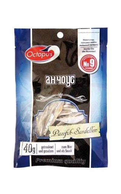Sušen ančous, TM Octopus, 36g. z dostavo v Sloveniji