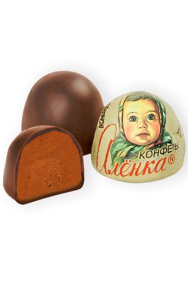 Čokoladni bonboni Aljonka s nadevom krem-brule, Rusija, na vago z dostavo v Sloveniji