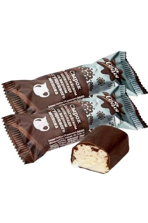 Skutni SIROK s karamelo v belgijski čokoladi, 40g, Litva z dostavo v Sloveniji