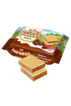 Вафли Коровка с шоколадной начинкой