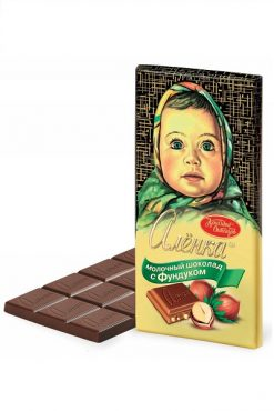 Молочный шоколад Аленка с фундуком