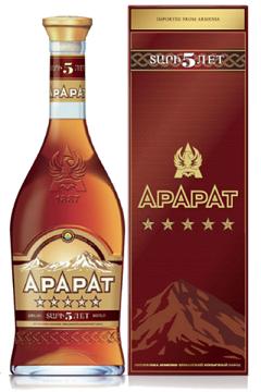Brandy ArArAt, 5 Let, 0,5l, Armenija z dostavo v Sloveniji