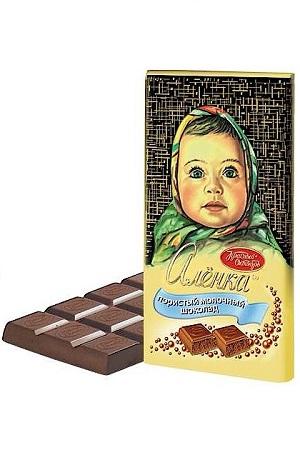 Молочный пористый шоколад Аленка