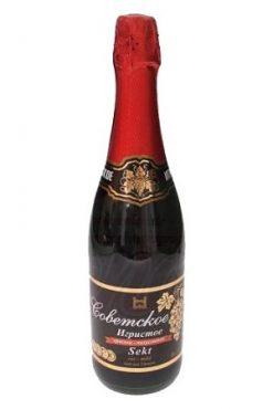 Советское Игристое Шампанское красное