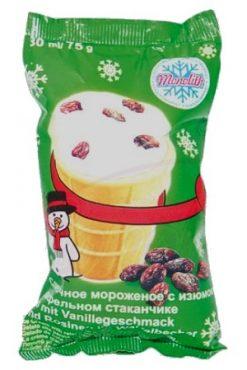 Мороженое Пломбир с изюмом