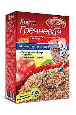 Крупа гречневая в пакетиках, Увелка, 5шт.х80г. с доставкой по Словении