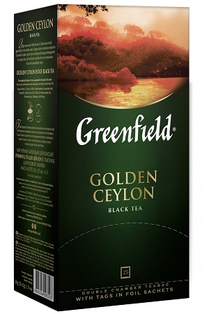Čaj črni GOLDEN CEYLON, TM Greenfield, 25х2g. z dostavo v Sloveniji